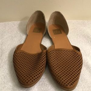 Dolce Vita size 10 brown and gold flats